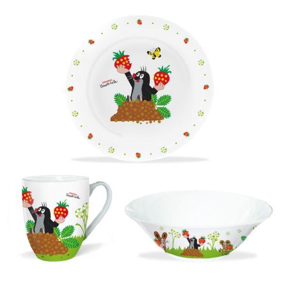 Der kleine Maulwurf - Porzellan Set Erdbeere (3-teilig)