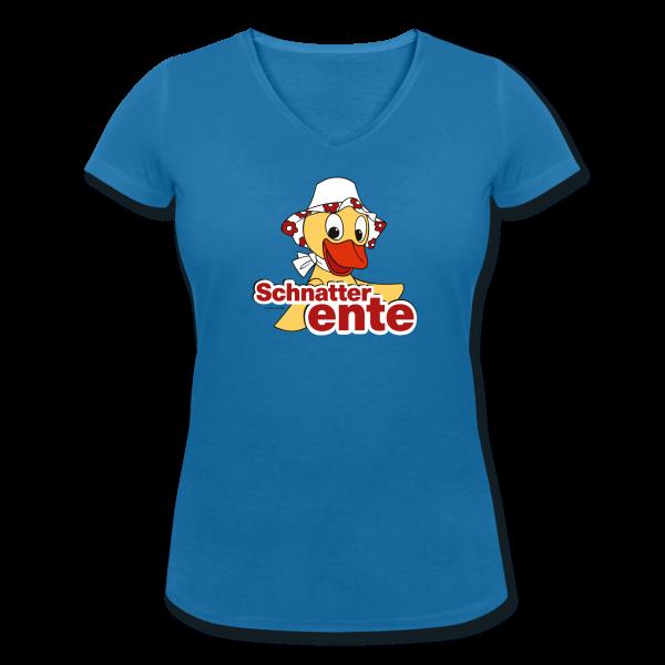 Schnatterente Frauen T-Shirt mit V-Ausschnitt von Spreadshirt