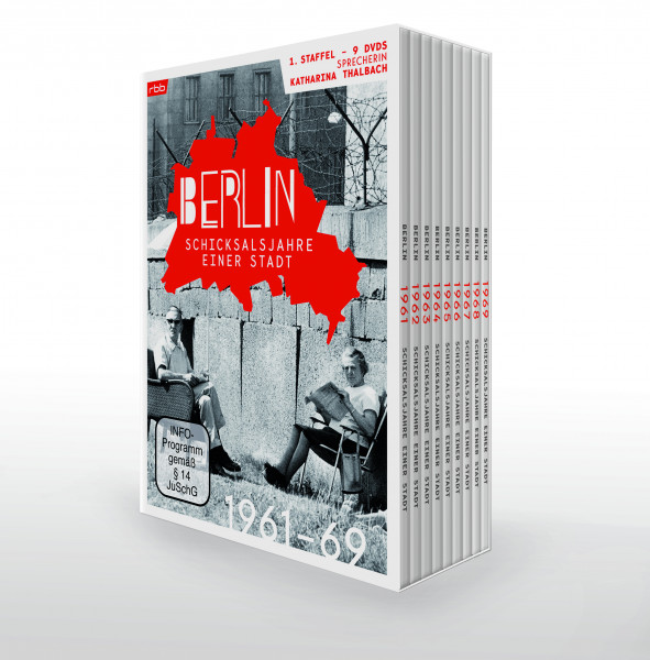 Berlin - Schicksalsjahre einer Stadt - 1961 bis 1969 - komplette 1. Staffel (9er DVD-Box)