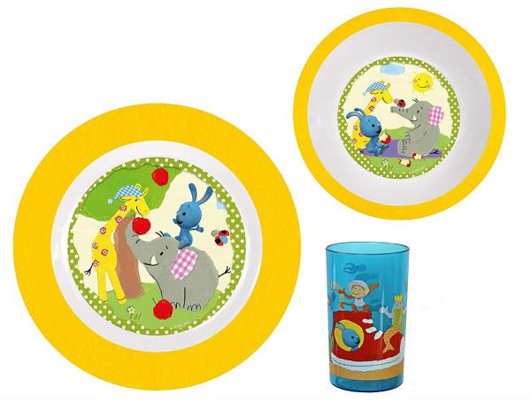 Kikaninchen Frühstücks-Set aus Melamin (3-teilig)