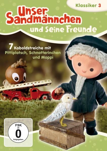 Sandmann DVD - Unser Sandmännchen Klassiker Teil 3 – Sieben Koboldstreiche mit Pittiplatsch, Moppi und Schnatterinchen Cover