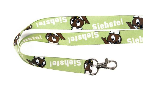Pittiplatsch Schlüsselband - Siehste! (grün)
