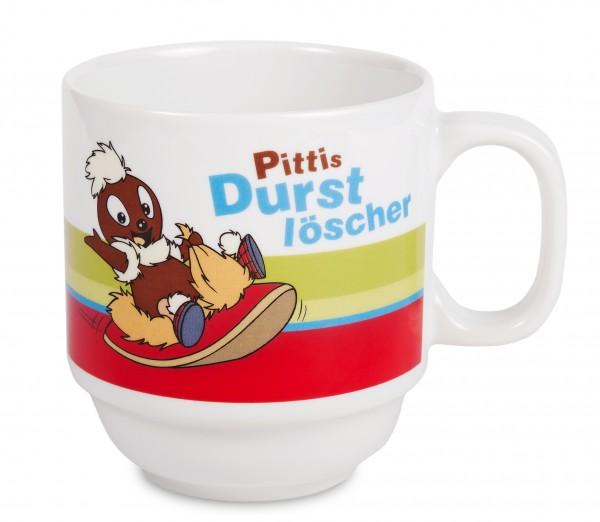"""Pittiplatsch Tasse """"Pittis Durstlöscher"""" aus Porzellan"""