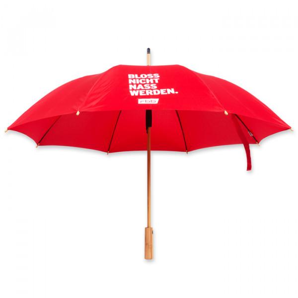 rbb Stockregenschirm - Bloss nicht nass werden Ansicht vorn