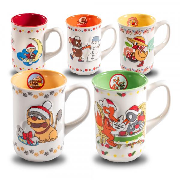 Leipziger Weihnachtsmarkt Tassen mit unserem Sandmännchen und seinen Freunden im Set