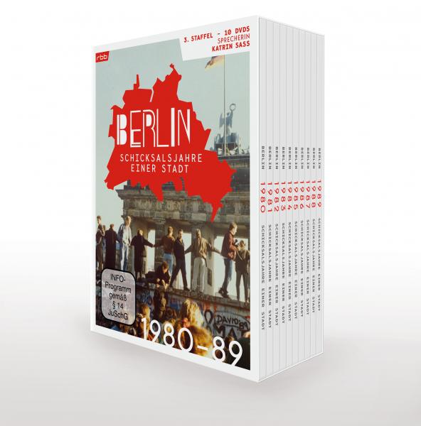 Berlin - Schicksalsjahre einer Stadt - 1980 bis 1989 - komplette 3. Staffel (10er DVD-Box)