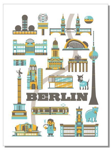 Geschirrhandtuch Berliner Sehenswürdigkeiten