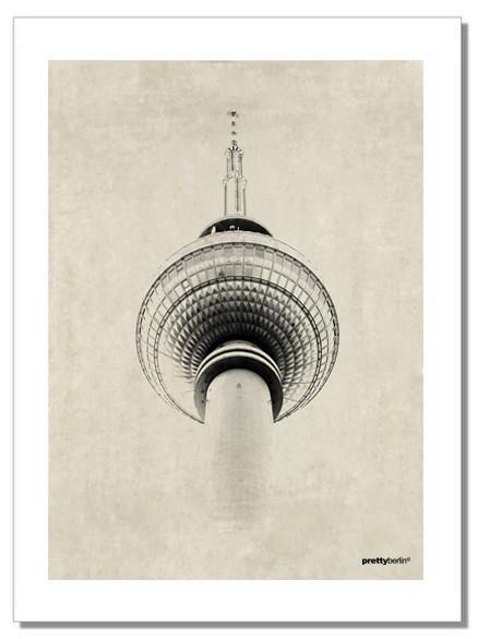 Geschirrhandtuch Berliner Fernsehturm von Pretty Berlin