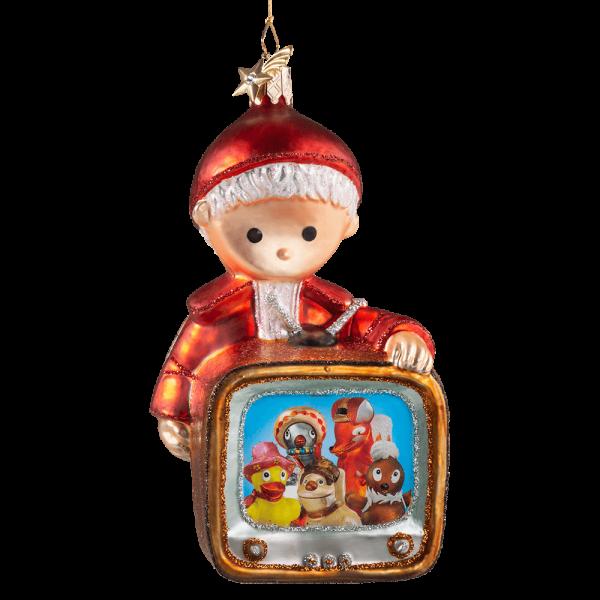 Unser Sandmännchen mit Fernseher - Weihnachtsschmuck