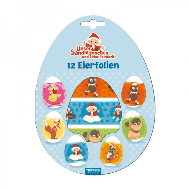 Eierfolien vom Sandmännchen und seinen Freunden 12er Set