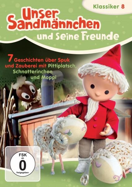 Sandmann DVD - Unser Sandmännchen Klassiker Teil 8 – Sieben Geschichten über Spuk und Zauberei mit Pittiplatsch, Schnatterinchen und Moppi Cover