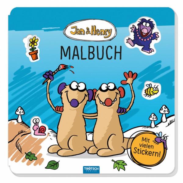 Jan & Henry Malbuch mit Stickern