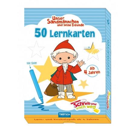 50 Lernkarten mit Stift Sandmännchen