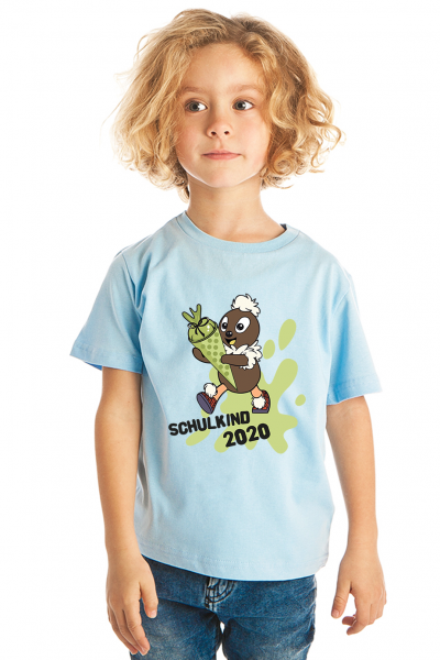 Pittiplatsch Schulkind 2020 - Kinder Bio-T-Shirt von Spreadshirt