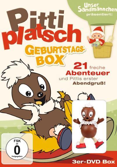 Pittiplatsch Geburtstagsbox mit Sammelfigur (3er DVD-Box)