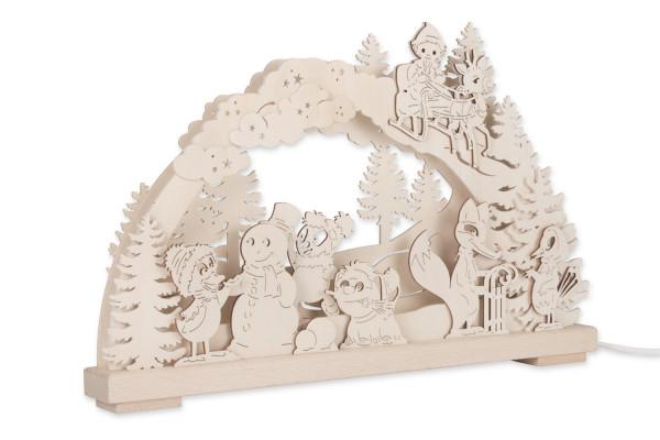 3D Schwibbogen vom Sandmännchen - Schneemann bauen mit Pittiplatsch & seinen Freunden