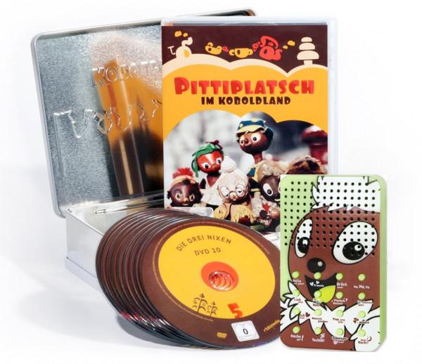 Pittiplatsch im Koboldland (10er DVD-Box ) mit Pitti-Soundbox in einer Keksdose - limitiert