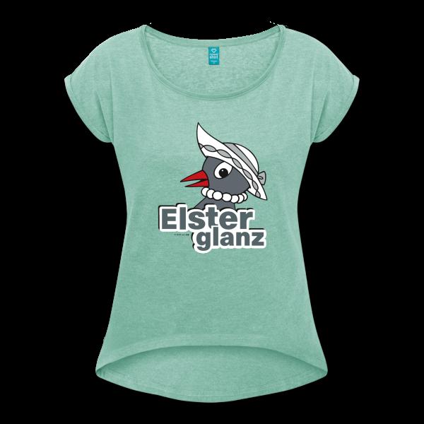 Elsterglanz Frauen T-Shirt mit gerollten Ärmeln von Spreadshirt