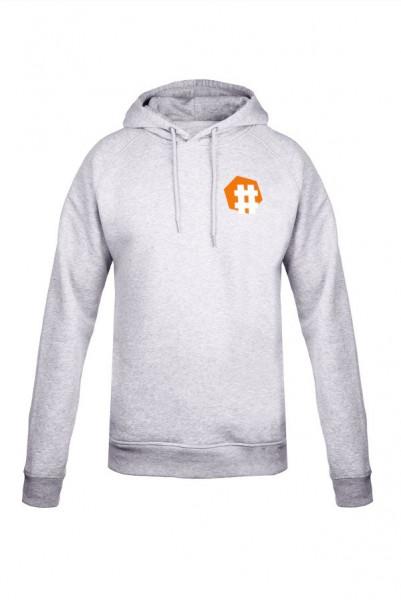 #KeinBerlinohneKultur Hoodie Grau-Orange