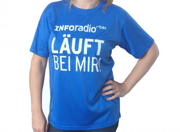 Inforadio Laufshirt Vorderseite
