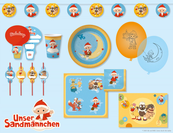 Unser Sandmännchen Party-Set für 8 Kinder