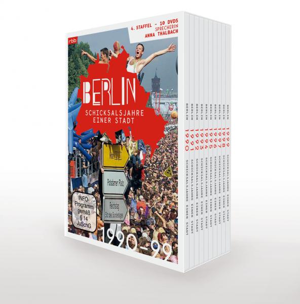 Berlin - Schicksalsjahre einer Stadt - 1990 bis 1999 - komplette 4. Staffel (10er DVD-Box)