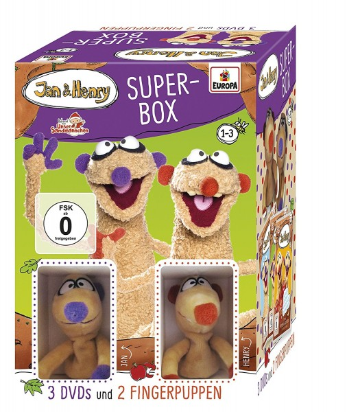 Jan & Henry Fanbox (3er-DVD-Box mit Fingerpuppen) - Limited Edition