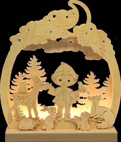 """Unser Sandmännchen Nachtlicht """"Sandmännchen mit Tieren im Wald"""""""
