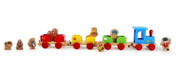 Unser Sandmännchen Eisenbahn aus Holz