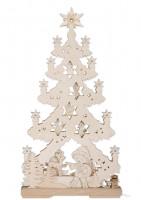 3D Tannenbaum aus Holz - Sandmann und seine besten Freunde