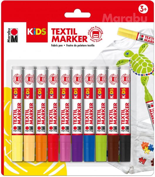 Textilstifte für Kinder (10er Set)
