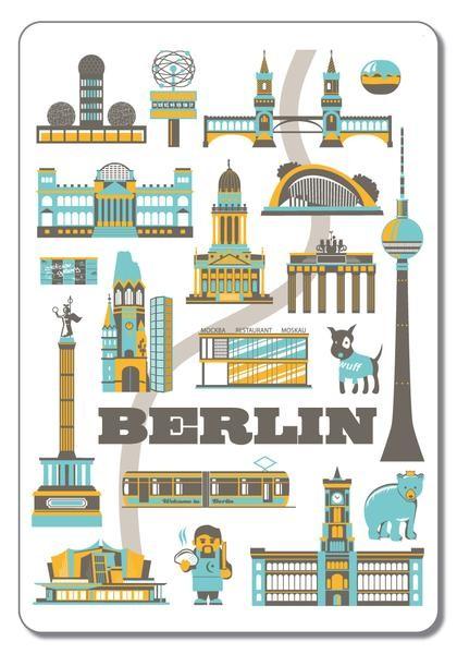 Magnet  Berliner Sehenswürdigkeiten