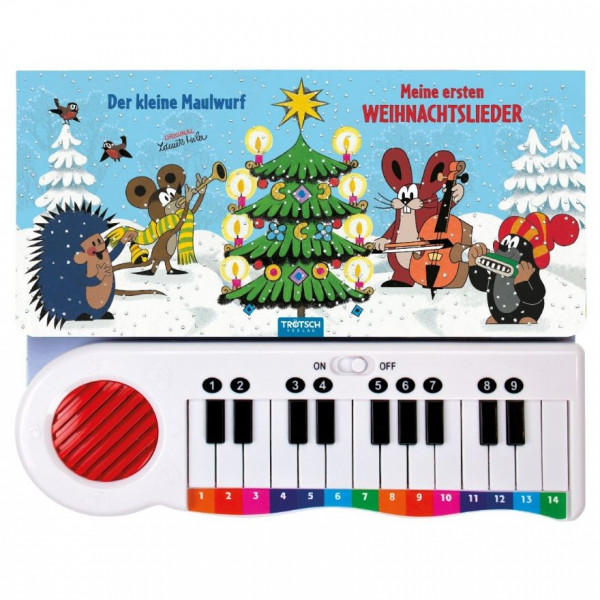 Der kleine Maulwurf - Meine ersten Weihnachtslieder - Buch mit Klavier