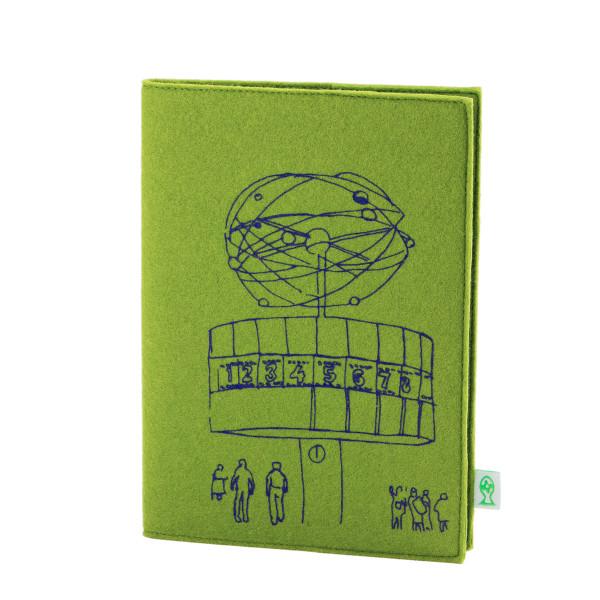 Berlin Skizzenbuch Weltzeituhr - Maigrün