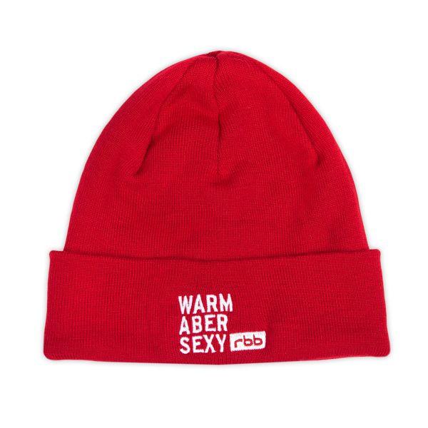 rbb Strickmütze - Warm aber sexy - rot