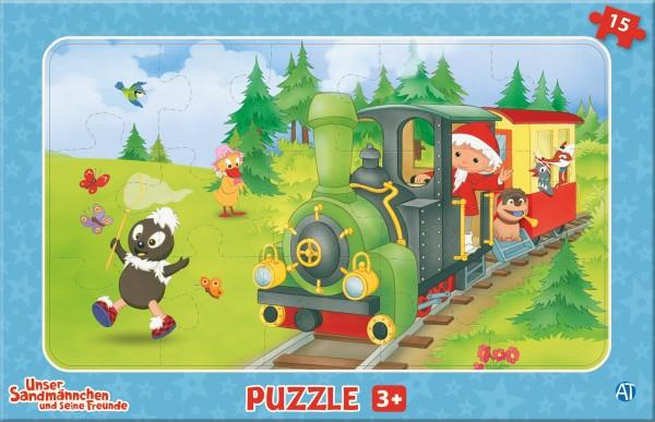 Unser Sandmännchen Puzzle - Eisenbahn (15-teilig)
